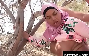 FUXNXXXXX movie clip - Big Titties Arab Girl in Hijab Fucked Outside