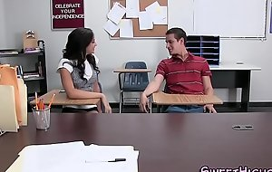 Latina teen highschooler fucks and tugs