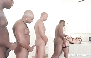 Clementine Marceau comes to get black cock, duplication anal and hard fucking