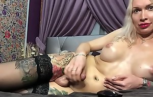 boosty big dicked russian amateur shemale eva jerks off on webcam