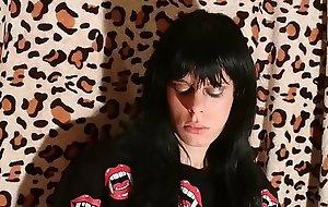 Beth Kinky - Sexy goth domina smoking 2 pt1 HD