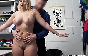 Former employee Milf Vanessa Cage regrets stealing jewelry! Because of her previous good standing, the officer allows her to negotiate for her freedom!
