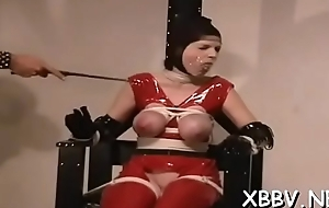 Overweight female tied nearly and forced to tolerate bdsm xxx
