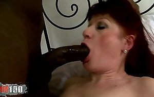 Old whore fucked by big black cock