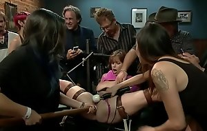 Busty squirter fucked in public bdsm