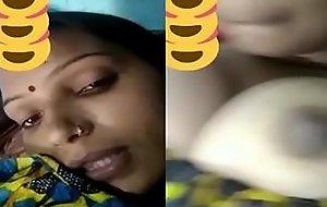 Desi village bhabhi showing boobs on video call live nipple show