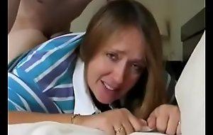 Son cum inside his mothers ass
