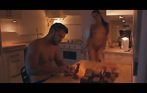 Cock craving cutie Gala Brown sucks her mans cock and then bends over the counter to get her needy wet pussy fucked hard