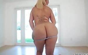 Blonde MILF hottie Nina Kayy birthday sex for stepson