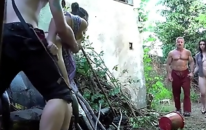 Filthy family perverse in the garden taboo sex