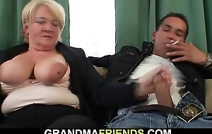Two subsidiary fuck boozed bazaar granny from both ends