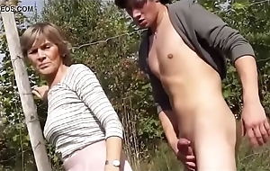 granny sucks and be hung up on in the air public