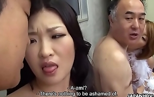 Two Japanese wives realize fucked and facialized offer distribute