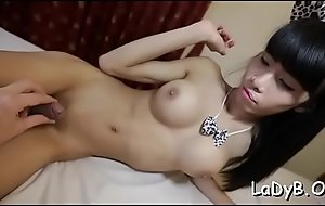 Thai shelady gives a blow