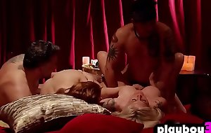 Crazy swinger couple enjoys having it away with other couples