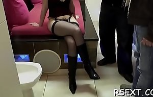 Atrophied babe's peach licked hard