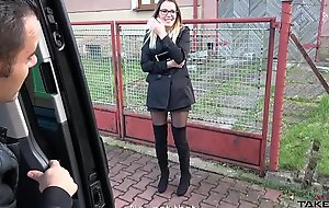 Super morose glassed teacher got lots be useful to cum on cum-hole in driving fore