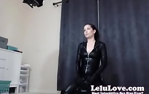 lelu love webcam bts riding sybian in catsuit