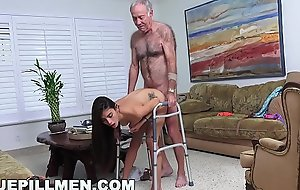 BLUE PILL Ragtag - Grandpa Popping Pills and Fucking Tight Latina Teen Pussy!