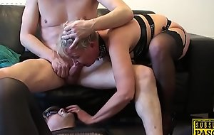 Big-busted uk filial gilf gets ass roughfucked