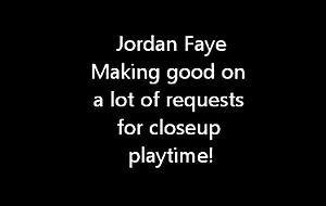 Jordan Faye playtime