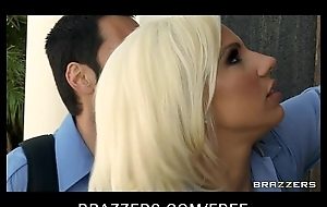 Sexy blonde paramedic Lylith Lavey fucks patient to save his life