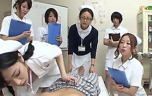 JAV nurses CFNM handjob oral pleasure demonstration Subtitled
