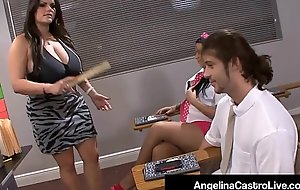 Latina Cram Angelina Castro Forces Student To Wack A Cock