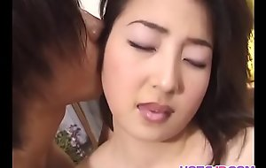 Dazzling babe Moemi Takagi cums everlasting with a toy up her flimsy pussy