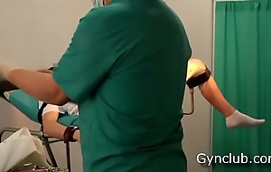 Girl'_s orgasm aloft the gynecological moderator  (ep13)