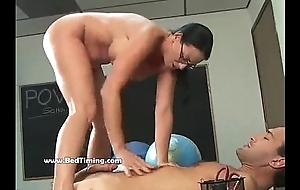 Big Tits Babe Fucked Hard In Class
