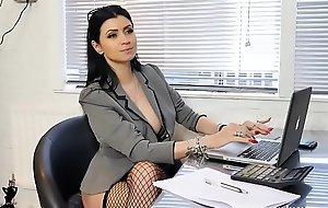 Boss bitch turn office boy to station slave
