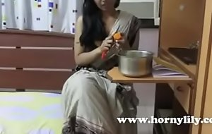 Horny Lily Despondent Indian Bhabhi Tutor Defamatory Talking and Seducing Her Students